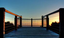 Lookout during sunset. Lookout on coastline of Great Ocean Road, Australia during sunset Stock Image