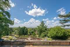 Lookout in the Terrace Gardens stock photography
