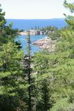 Lookout to Lake Superior. Lake Superior Provincial Park, Ontario Royalty Free Stock Photo