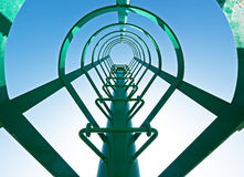 Lookout tower. Ladder at a lookout tower in italy Stock Photo