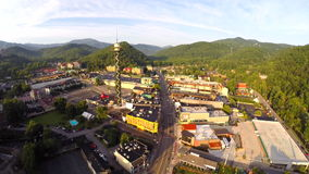 Lookout tower Aerial Gatlinburg tennessee stock video footage