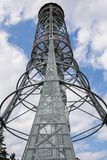 Lookout tower against the sky Stock Images