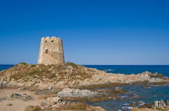 Lookout tower along the italian coast Royalty Free Stock Photo