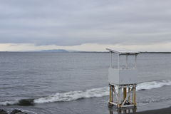 Lookout tower on the beach. Stock Images