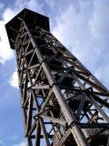 Lookout tower. Bohdanka Lookout tower near Bohdaneč village in the Czech Republic stock photo