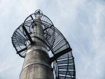 Lookout tower built on  TV transmitter Stock Photo