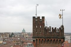 Lookout Tower of castle in the city of Udine Royalty Free Stock Photography
