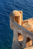 A lookout tower in the citadel at Calvi, Corsica Royalty Free Stock Photos