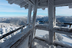 Lookout Tower Covered By Snow Stock Image