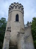 Lookout tower Ded above beroun city in czech republic with a round staircase Stock Image