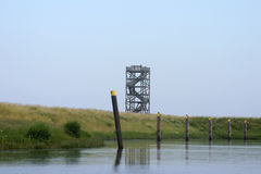 Lookout tower on the dike Royalty Free Stock Photos