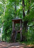 Lookout tower. Lookout tower in the estate of Leo Tolstoy in Yasnaya Polyana Stock Photography