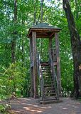 Lookout tower. Lookout tower in the estate of Leo Tolstoy in Yasnaya Polyana Royalty Free Stock Photos