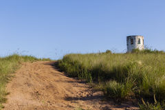 Lookout Tower Hilltop Dirt Road Royalty Free Stock Image