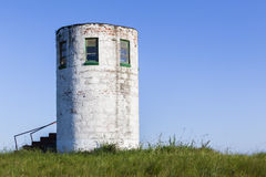 Lookout Tower Hilltop Farming Stock Photo