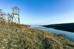 Lookout tower on the island of Khortytsya. March view Lookout tower on the island of Khortytsya Royalty Free Stock Image