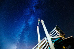 Lookout Tower and Milky Way Royalty Free Stock Image
