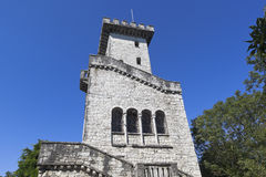 Lookout Tower on the mountain Big Ahun in Sochi Royalty Free Stock Photos