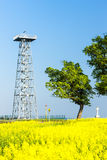 Lookout tower, Novy Poddvorov Royalty Free Stock Photography