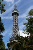 Lookout tower on Petrin Hill in Prague, Czech Republic Royalty Free Stock Photo