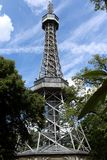 Lookout tower on Petrin Hill in Prague, Czech Republic Royalty Free Stock Photography