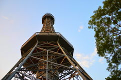 Lookout Tower in Petrin Hill in Prague Stock Images