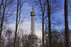 Lookout tower Petrin Royalty Free Stock Image