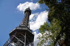Lookout Tower in Prague Royalty Free Stock Photos