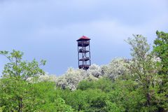 Lookout Tower South Moravia Hustopece Stock Photo. Lookout Tower South Moravia Hustopece Landmark Stock Photo stock images