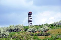 Lookout Tower South Moravia Hustopece Stock Photo royalty free stock photo