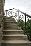 Lookout Tower of Stairs. Observation tower of stairs and iron railings Royalty Free Stock Photos