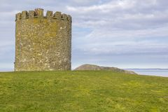 Lookout tower at Uphill, Somerset. Great view of church overlooking Weston-super-Mare royalty free stock images