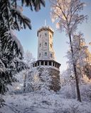 Lookout tower in the winter Royalty Free Stock Images