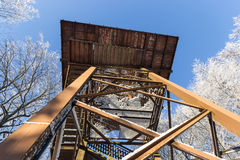 The lookout tower winter Stock Photos