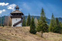 Lookout Veza in village Velke Borove, Slovakia. Lookout called Veza in village Velke Borove, Slovakia stock photo