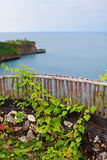 Lookout with views of the sea. And island stock image