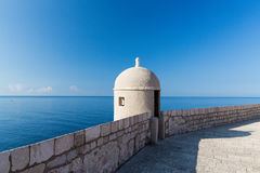 Lookout on the Walled City of Dubrovnik. Classic view out from Dubrovnik in Croatia Royalty Free Stock Image