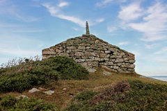 Lookout and way point, Rhoscolyn, Anglesey, Wales Stock Photo