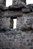 Remains of the Afyonkarahisar fort in Turkey. Lookout windows in the castle of the Afyonkarahisar, Trukey country Stock Photography