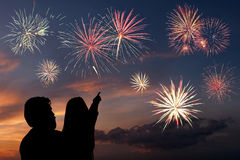 Looks fireworks Stock Photos