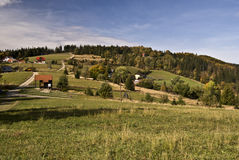 Nice landscape of Slezske Beskydy mountains Royalty Free Stock Photography