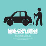 Lookunder Vehicle Inspection Mirrors Royalty Free Stock Photo