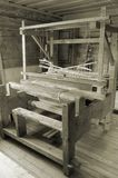Loom. Weaving loom in the rural house in Latvia Stock Photo
