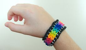 Loom band bracelet Royalty Free Stock Image