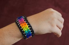 Loom band bracelet Stock Photography