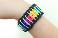 Loom band bracelet Stock Photo