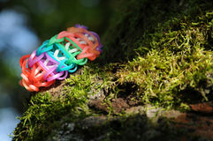 Loom band bracelet Royalty Free Stock Images