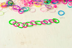 Loom band bracelet Royalty Free Stock Photography