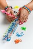 Loom band bracelet Stock Images