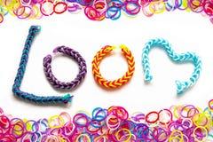 Loom band Bracelets Royalty Free Stock Image